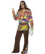 deguisement hippie homme, baba cool -  costumes années 60 et 70
