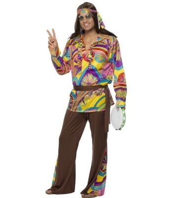 Déguisement hippie homme psychédélique