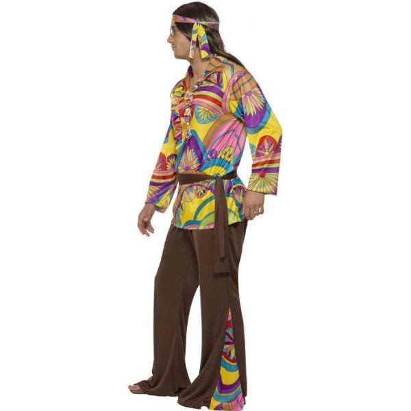 d guisement hippie homme psychedelique la magie du deguisement achat costume hippie. Black Bedroom Furniture Sets. Home Design Ideas