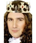 Complétez votre déguisement de roi à l'aide de cette couronne royale de couleur or