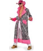 deguisement rappeur americain adulte, manteau leopard idéal pour carnaval ou soirée bling bling