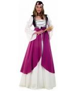 deguisement medieval femme, princesse Clarisse du moyen age - costume medieval grandes tailles XL XXL