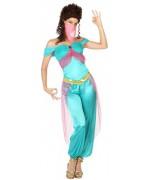 Déguisement de danseuse des mille et une nuits pour femme avec haut, pantalon et voile