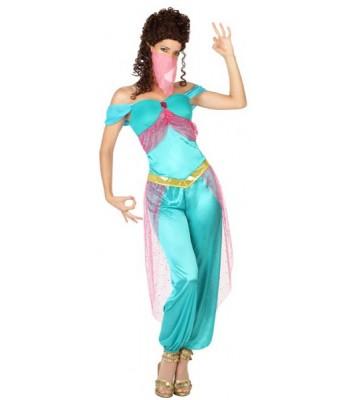 Déguisement princesse orientale bleue Jasmine