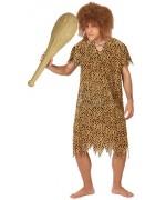 deguisement cromagnon homme des cavernes, tunique leopard - costume carnaval adulte
