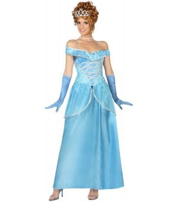 Déguisement princesse bleue adulte