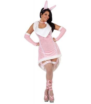 Déguisement lapin rose femme