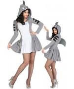 déguisement requin femme, orginal et rigolo idéal pour un enterrement de vie de jeune fille