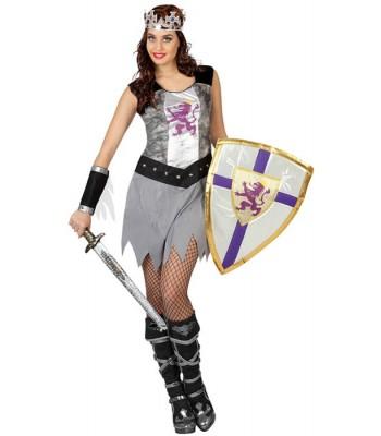 Déguisement chevalier medieval femme