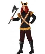 Déguisement de viking pour homme avec tunique, pantalon et casque