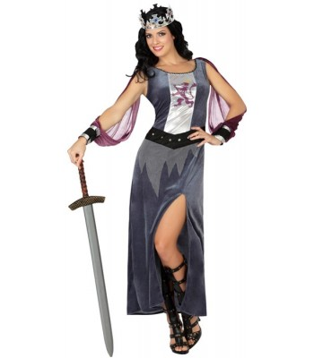 Déguisement médiéval femme soldat