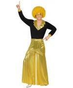 déuisement disco homme noir et or avec pantalon et maillot - costume disco adulte
