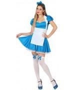 Déguisement Alice au pays des merveilles pour femme avec robe, tablier et serre-tête