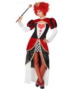 Déguisement de reine de cœur pour femme, incarnez la méchante reine de Alice au pays des merveilles
