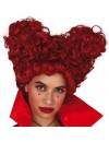 Perruque reine de cœur rouge pour femme, incarnez une méchante reine à l'occasion d'une fête ou d'un carnaval