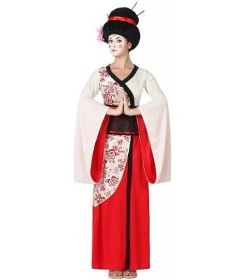 Déguisement de geisha adulte luxe