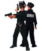 déguisement de policier pour enfants disponible en tailles 4-6 ans, 7-9 ans et 10-12 ans