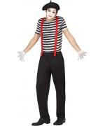 déguisement de mime pour homme idéal pour le carnaval ou une soirée noir et blanc