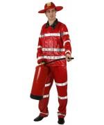 Déguisement de pompier, uniforme pour adulte