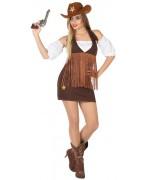 deguisement western femme sherif avec robe et manchettes - WA426S2