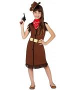 Déguisement de cowgirl pour fille idéal pour le carnaval ou une fête d'école