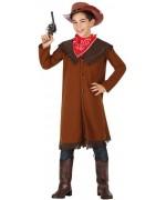 Déguisement de cowboy pour garçon de 3 à 12 ans avec veste et bandana