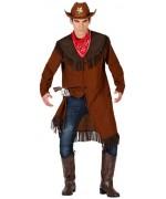 Déguisement de cowboy pour homme avec veste et bandana - costume western