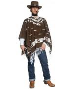 Déguisement justicier de l'ouest avec poncho - costume western