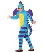 Déguisement dragon bleu homme luxe