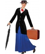 déguisement Mary Poppins femme, la nounou magique des années 40 - personnage de dessin animé