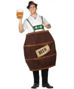 Déguisement tonneau de bière pour adulte avec chemise et tonneau - costume bavarois