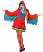 Déguisement de perroquet pour femme avec robe à capuche - costume animal pour carnaval