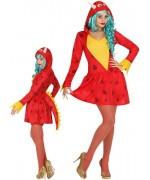 Déguisement de dragon rouge pour femme, costume animal - WA436S