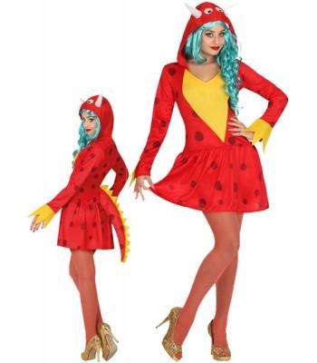 Déguisement dragon rouge femme