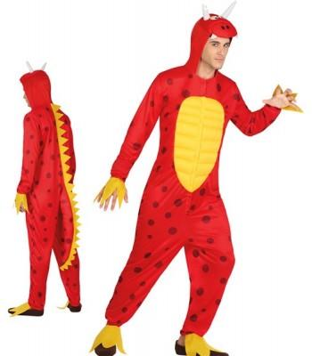 Déguisement de dragon rouge homme