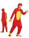 déguisement de dragon rouge adulte, combinaison à capuche - WA434S