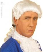 Perruque de marquis pour homme, cheveux blancs haute qualité
