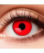 Lentille rouge, offrez davantage de réalisme à tous vos déguisements et maquillages d'halloween