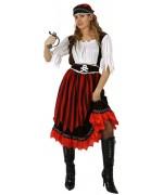 déguisement pirate à rayures pour femme