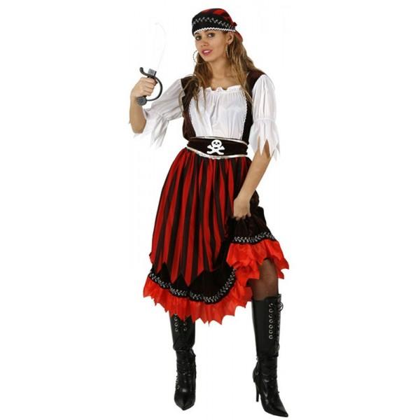 d guisement de pirate rayures pour femme la magie du d guisement achat deguisements pirate. Black Bedroom Furniture Sets. Home Design Ideas