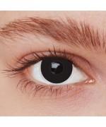 Paire de lentilles noires - déguisement et maquillage halloween