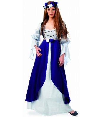 Déguisement médiéval femme bleu