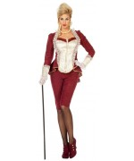 Déguisement de marquise femme avec pantalon et veste