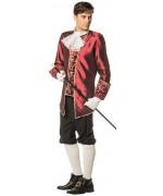 Déguisement marquis pour homme de couleur bordeaux, costume vénitien disponible en grandes tailles