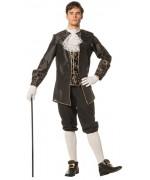 déguisement de marquis noir et or pour homme - costume vénitien adulte