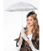 Ombrelle blanche, accessoire costume de marquise baroque