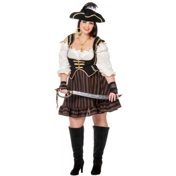 d guisement pirate femme grande taille la magie du deguisement achat vente de costume. Black Bedroom Furniture Sets. Home Design Ideas