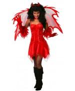 Déguisement diablesse sexy adulte - costume anges et démons halloween