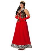 Déguisement princesse grande taille pour femme, longue robe de reine rouge