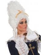 Perruque de marquise blanche luxe - costume baroque
